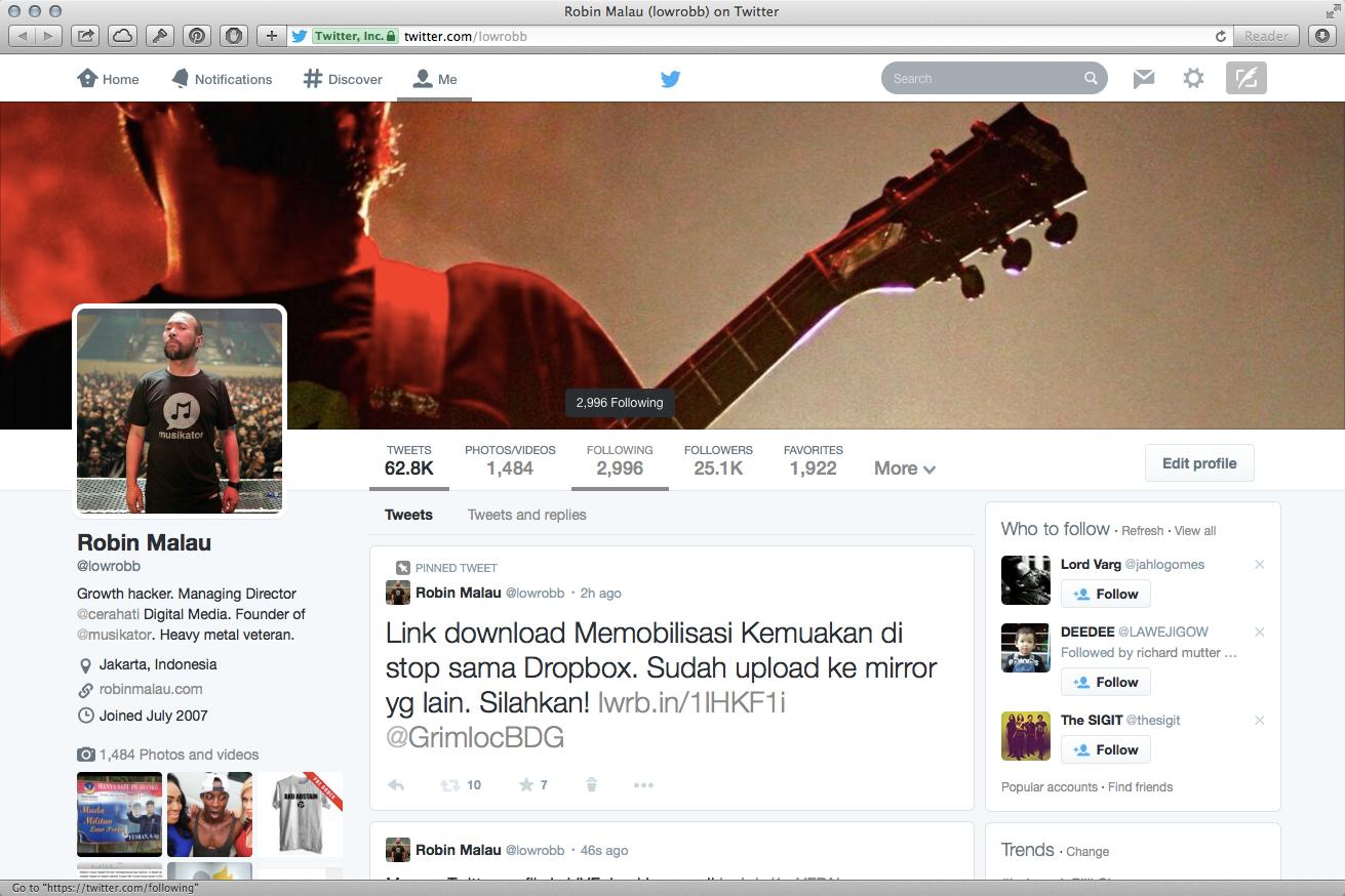 New Twitter Profile Design