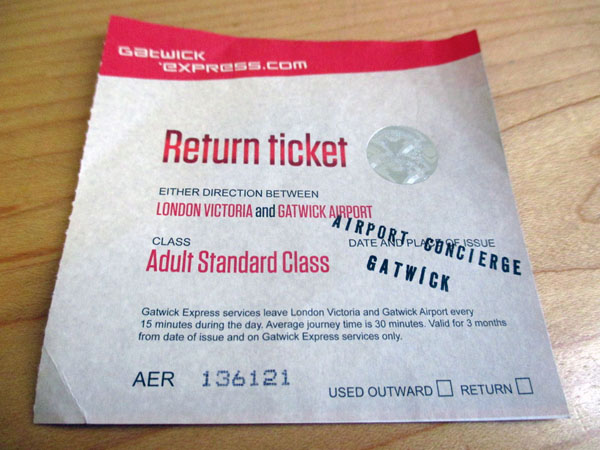 gatwick express return ticket
